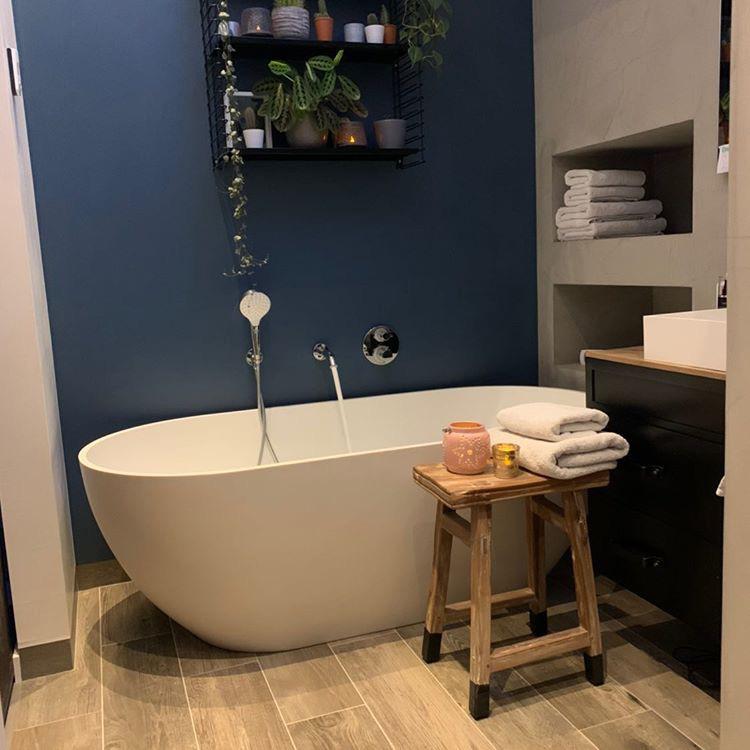 keramisch parket in de badkamer