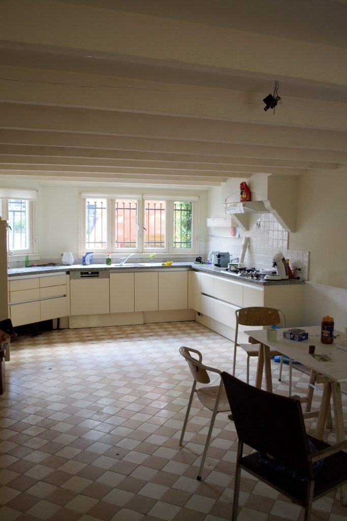 Verbouwing keuken. Keuken inhet souterrain