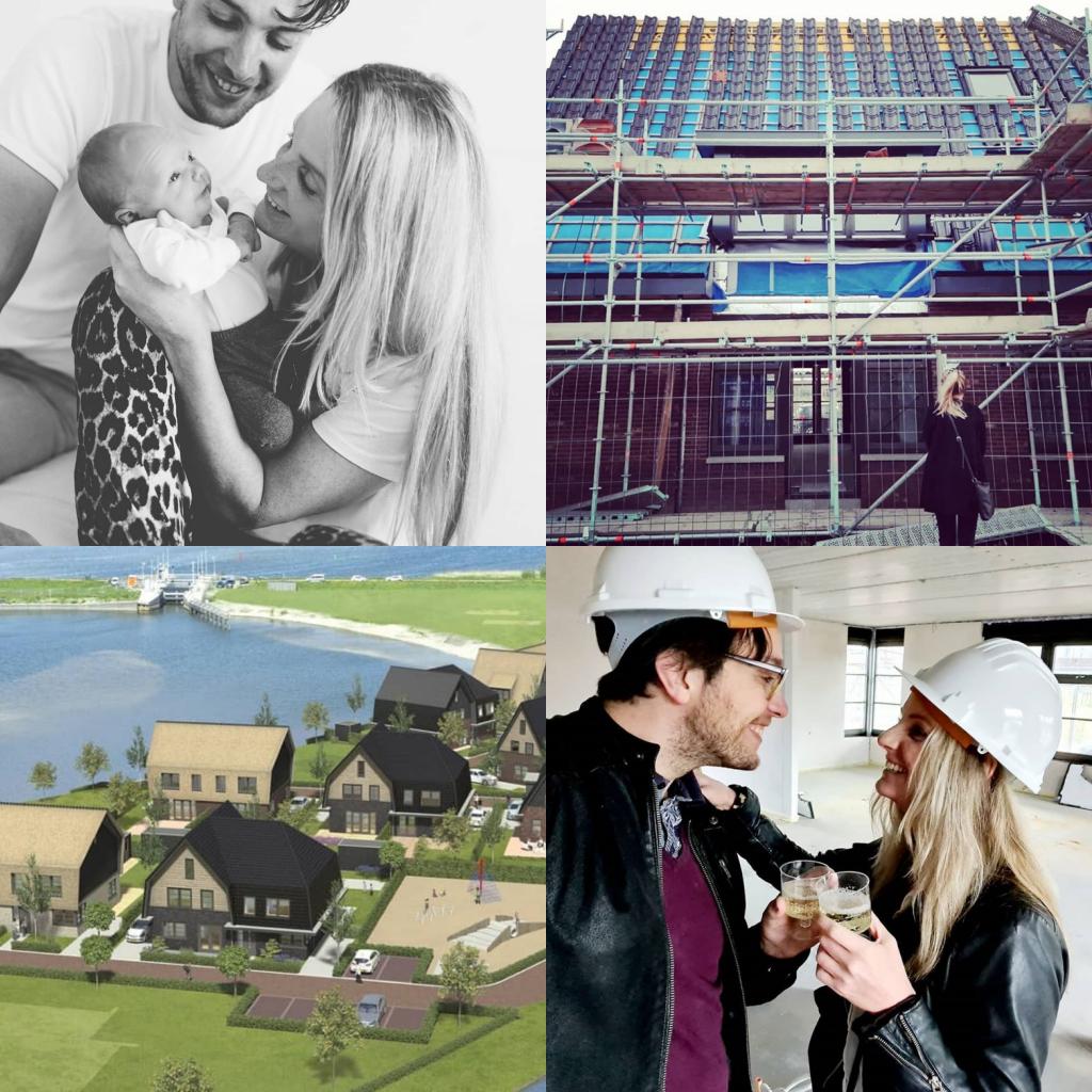 Instagrammers met een nieuwbouwhuis